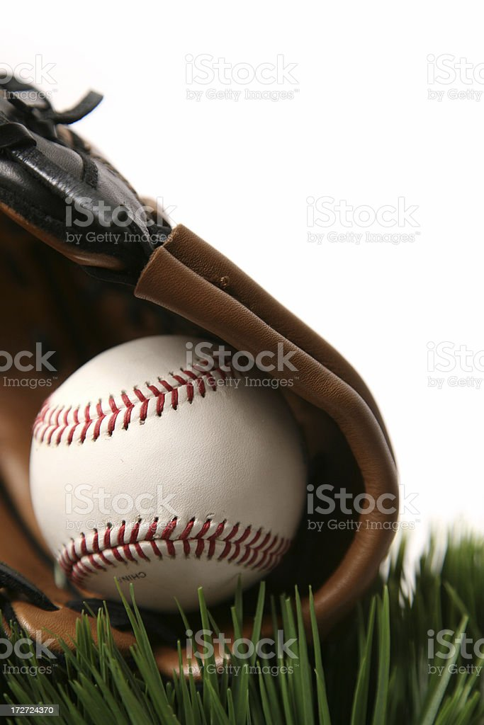 Baseball and glove royalty-free stock photo