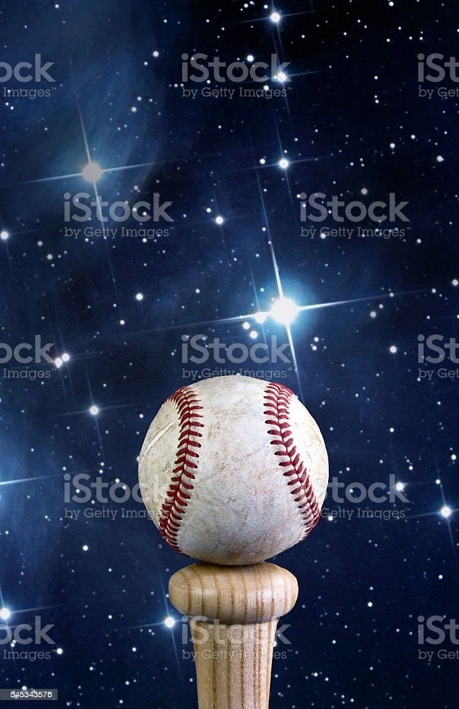 Baseball and the universe. stock photo