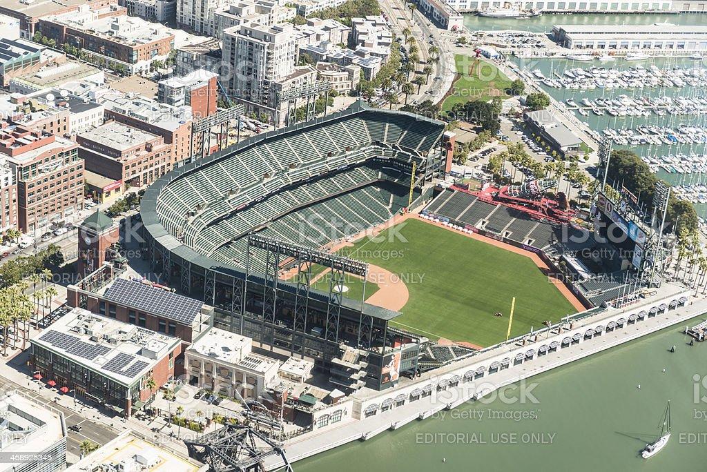Baseball AT&T Park stadium of San Francisco royalty-free stock photo