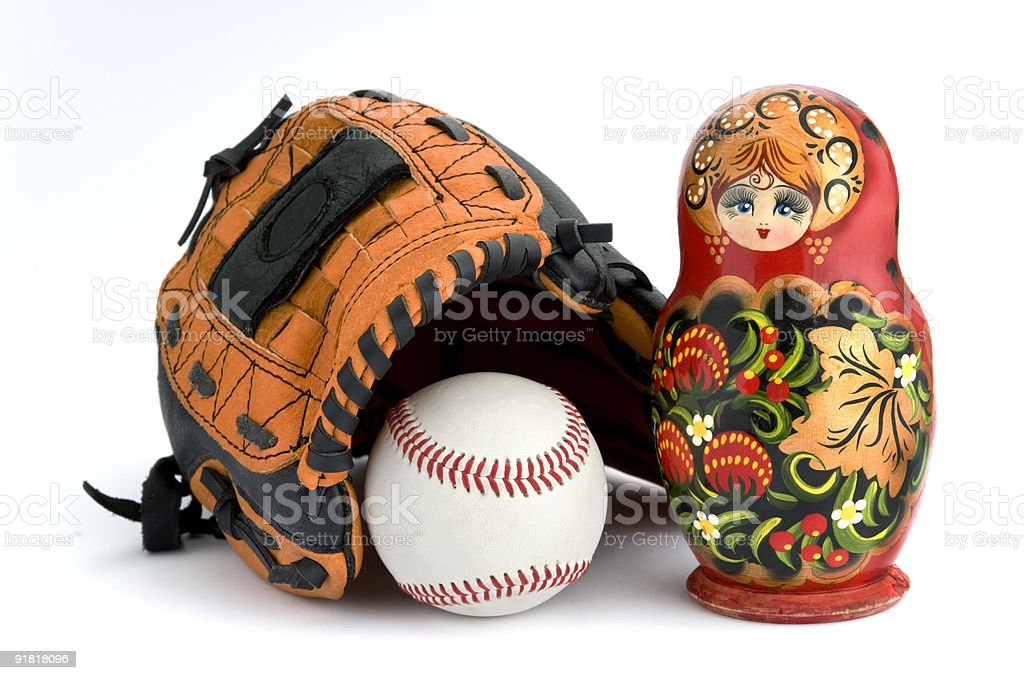 Baseball Babushka royalty-free stock photo