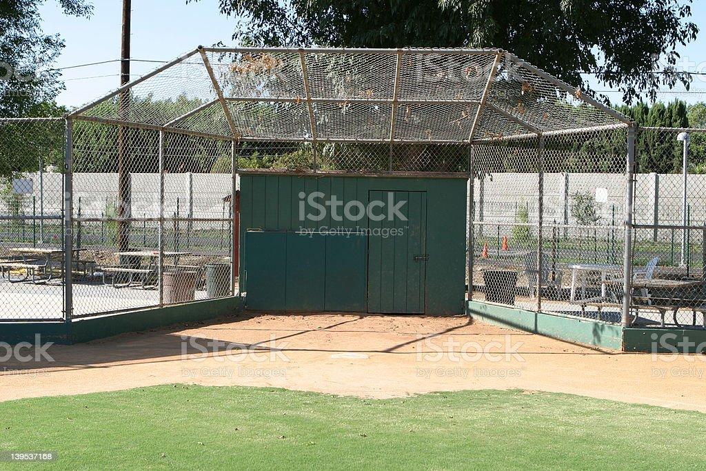 baseball - backstop stock photo
