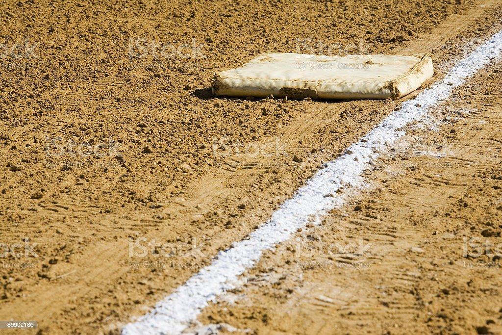 Baseball Bag and Line royalty-free stock photo