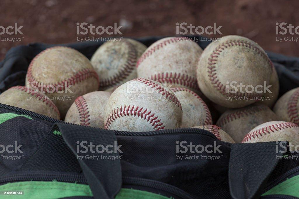 Baseball - Bag closer stock photo