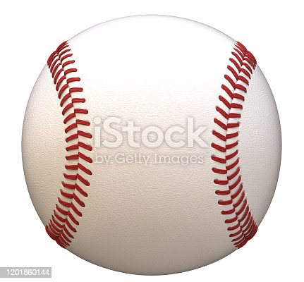 3d rendering, baseball ball, isolated, white background