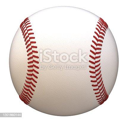 3d rendering, baseball ball, isolated, white background