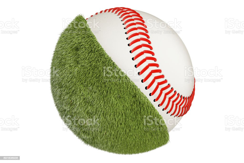 Baseball ball concept, 3D rendering isolated on white background stock photo