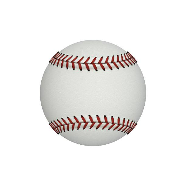 baseball ball isolated on white background. 3d illustration - clip art stock photos and pictures