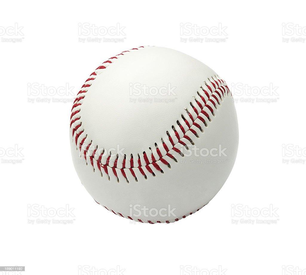 Baseball ball isolated on white stock photo