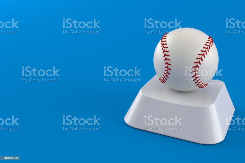 Baseball ball on computer key royalty-free stock photo