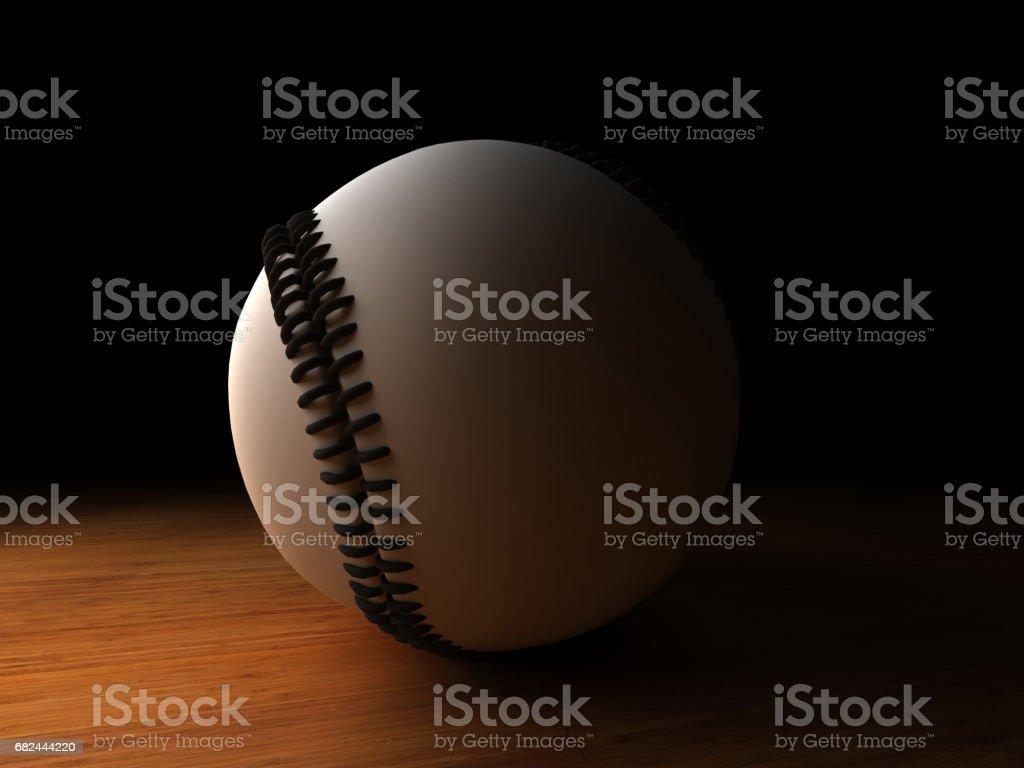 baseball ball spotlight royalty-free stock photo