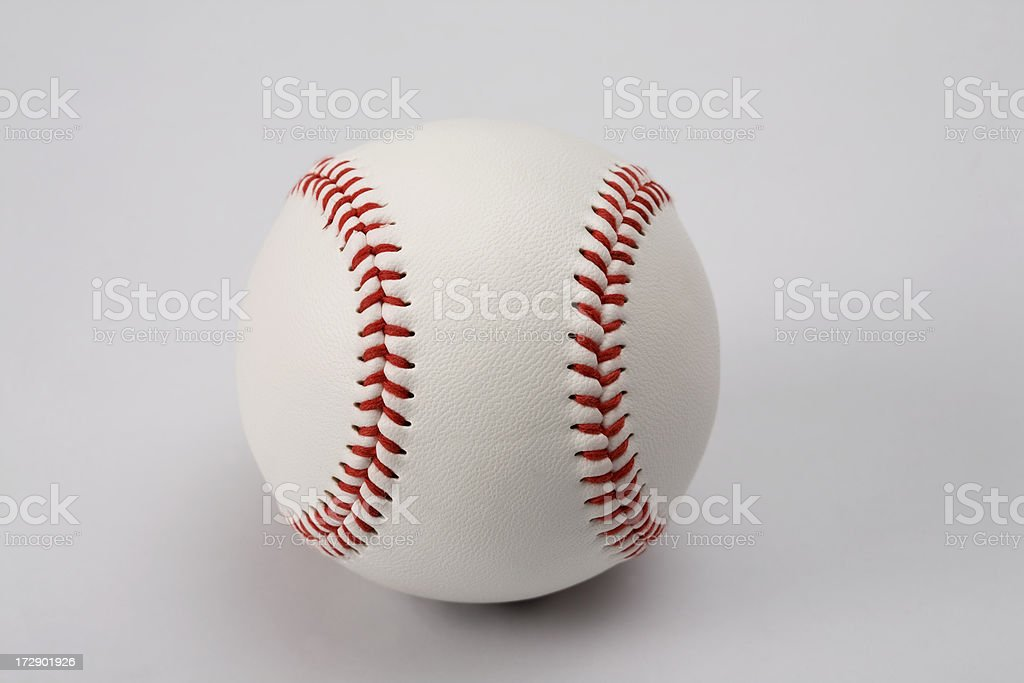 Baseball ball with clipping path (III) royalty-free stock photo