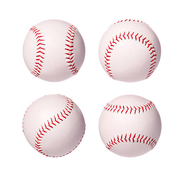 Baseball Balls Collection isolated on white background stock photo