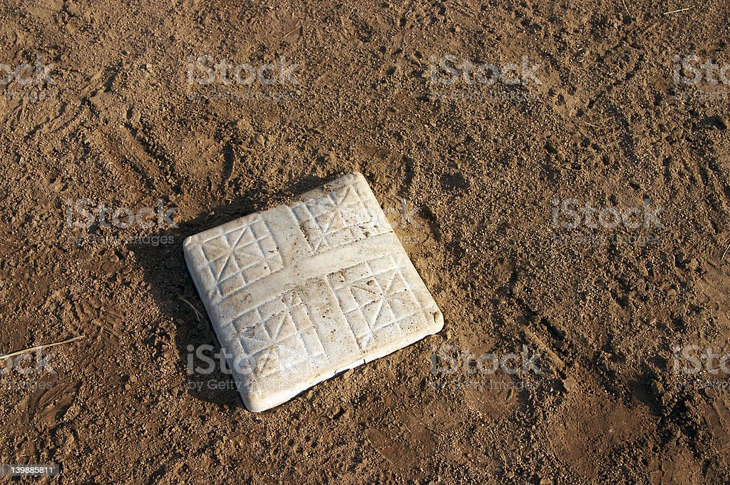 Baseball Base and Infield Dirt royalty-free stock photo