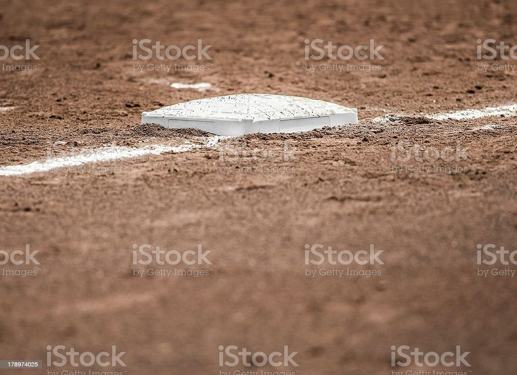 Baseball base , Softball  , baseline royalty-free stock photo