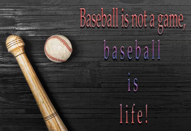 baseball, bat, ball, sport, american, copy space, wooden,, Sharp stock photo