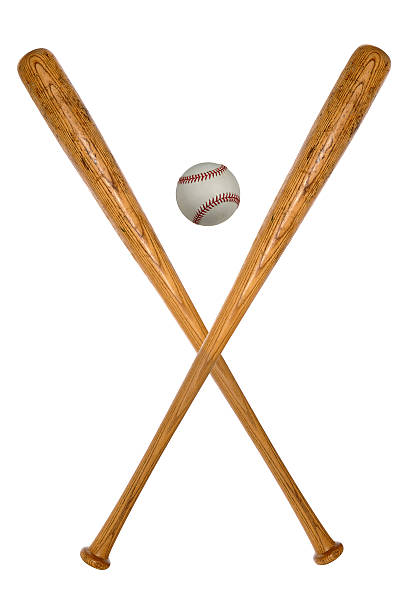baseball bats and ball - baseball bat stock photos and pictures