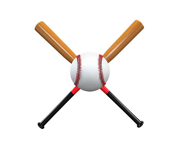 baseball bats and ball - clip art stock photos and pictures