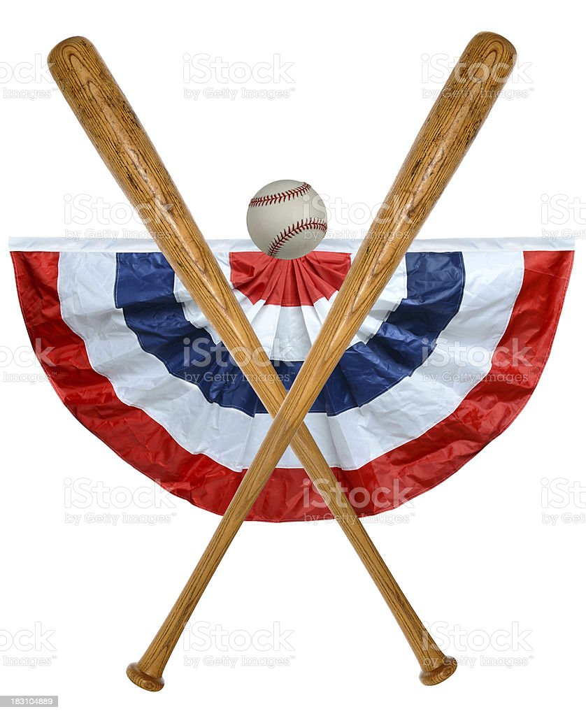 Baseball Bats Ball and Banner royalty-free stock photo