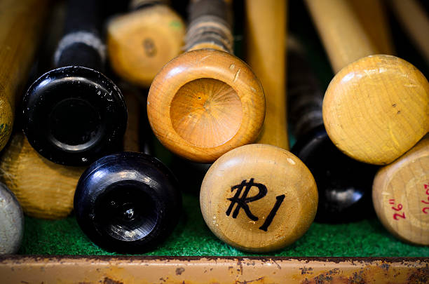 Baseball Bats stock photo