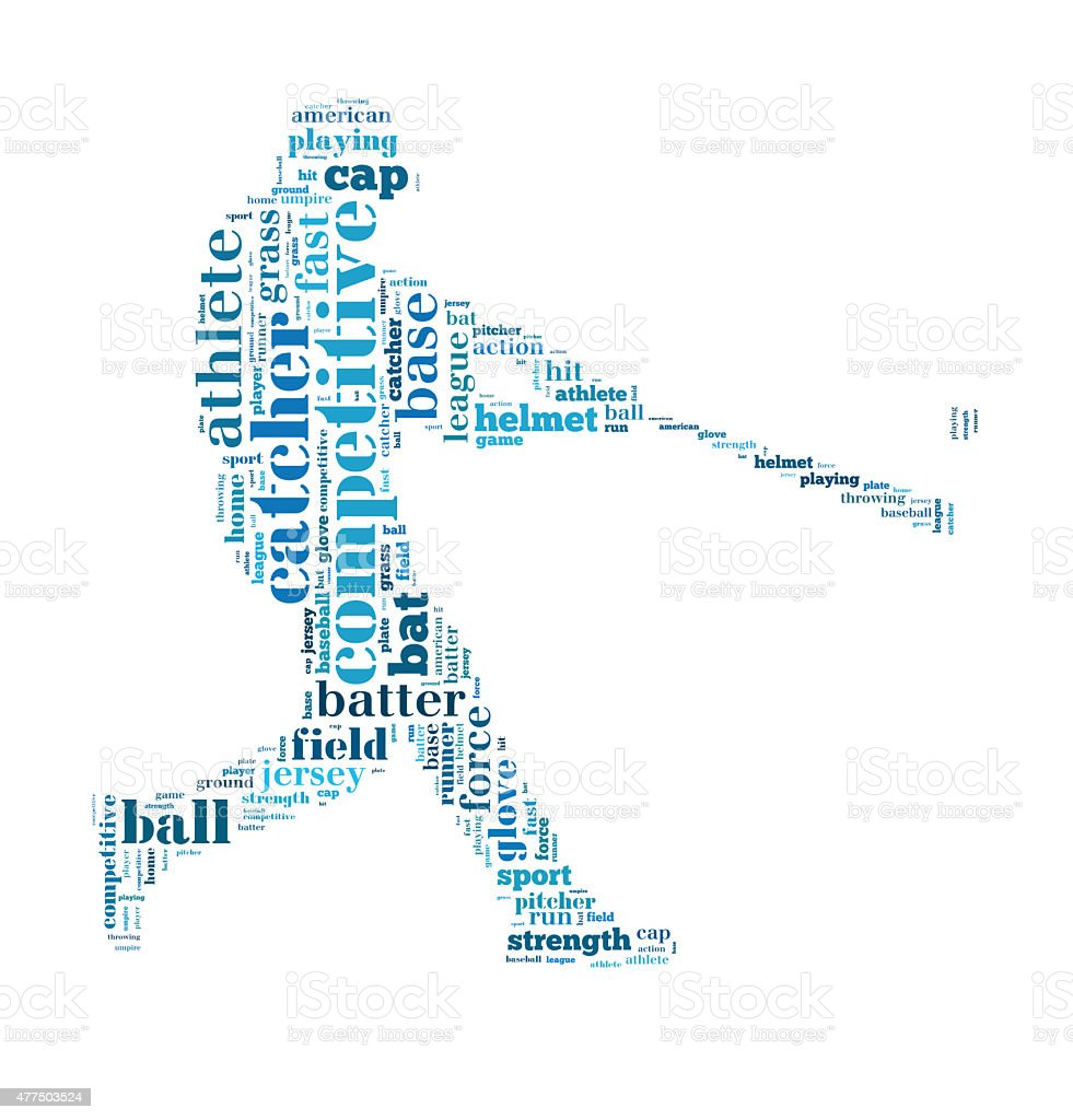 Baseball batter hits the ball stock photo