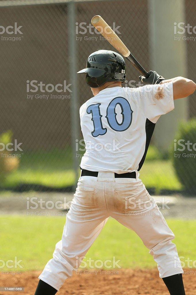 Baseball batter in hitting stance royalty-free stock photo