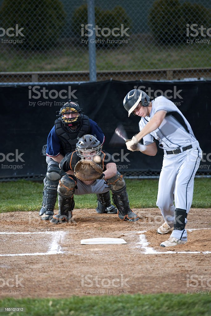 Baseball Batter in Mid Swing, Will He Make Contact? royalty-free stock photo