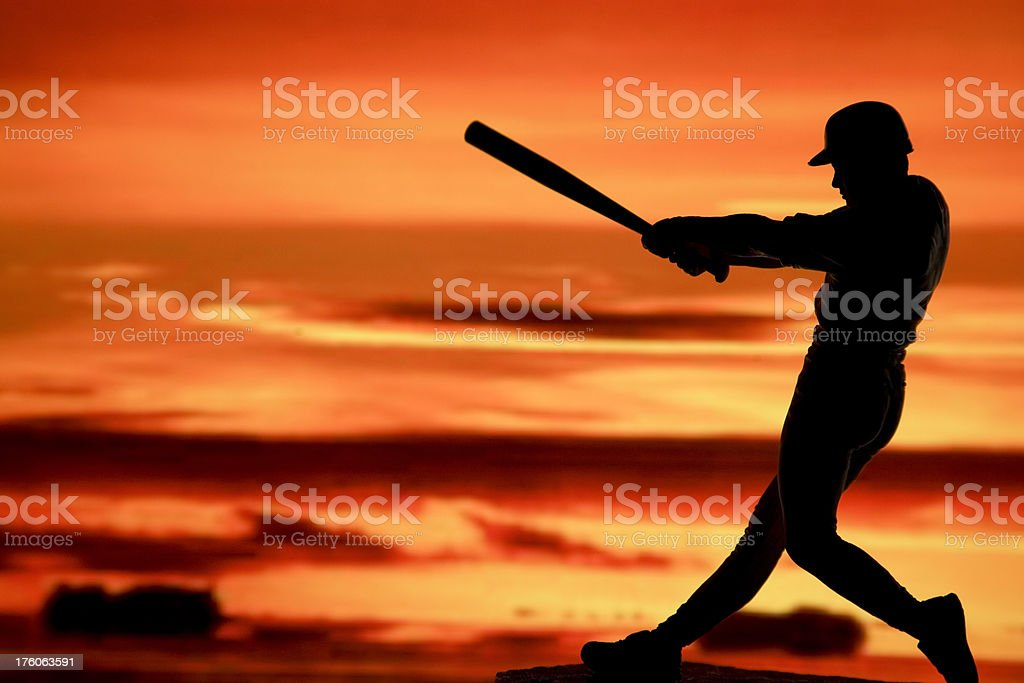baseball batter silhouette stock photo