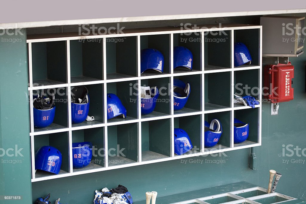 Baseball Batting Helmets royalty-free stock photo