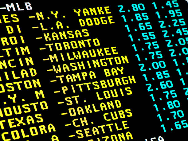 Baseball betting stock photo