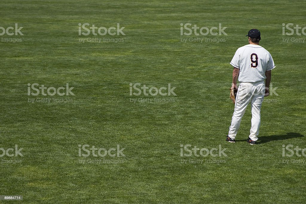 Baseball Boredom royalty-free stock photo