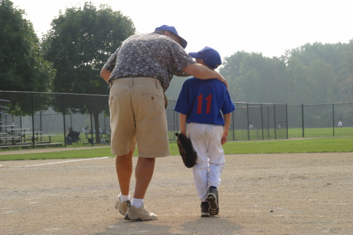 Baseball Boy and Dad