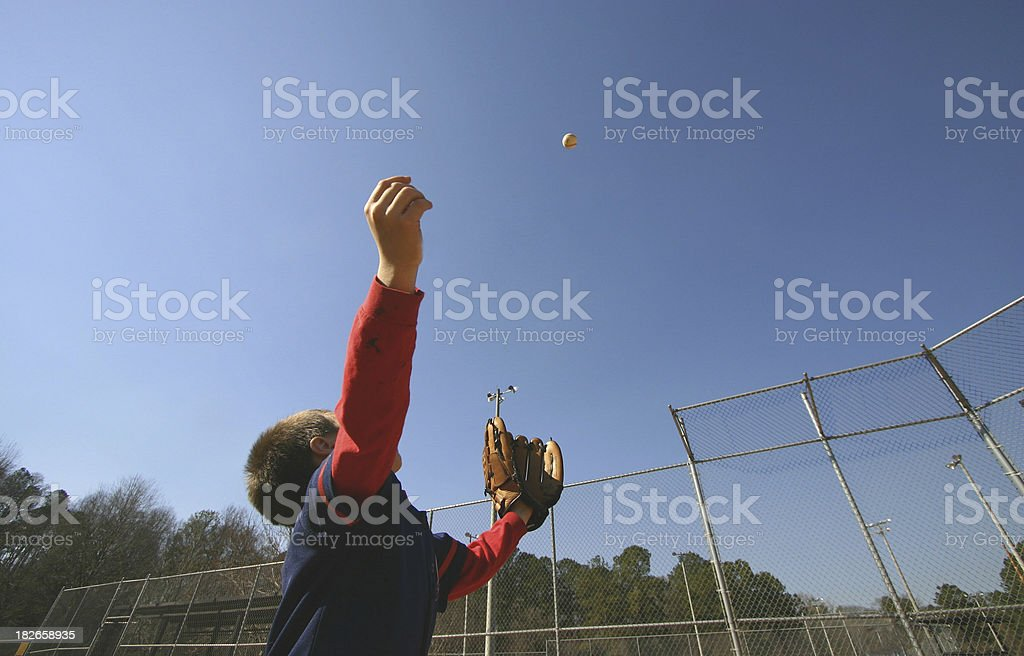 Baseball boy stock photo