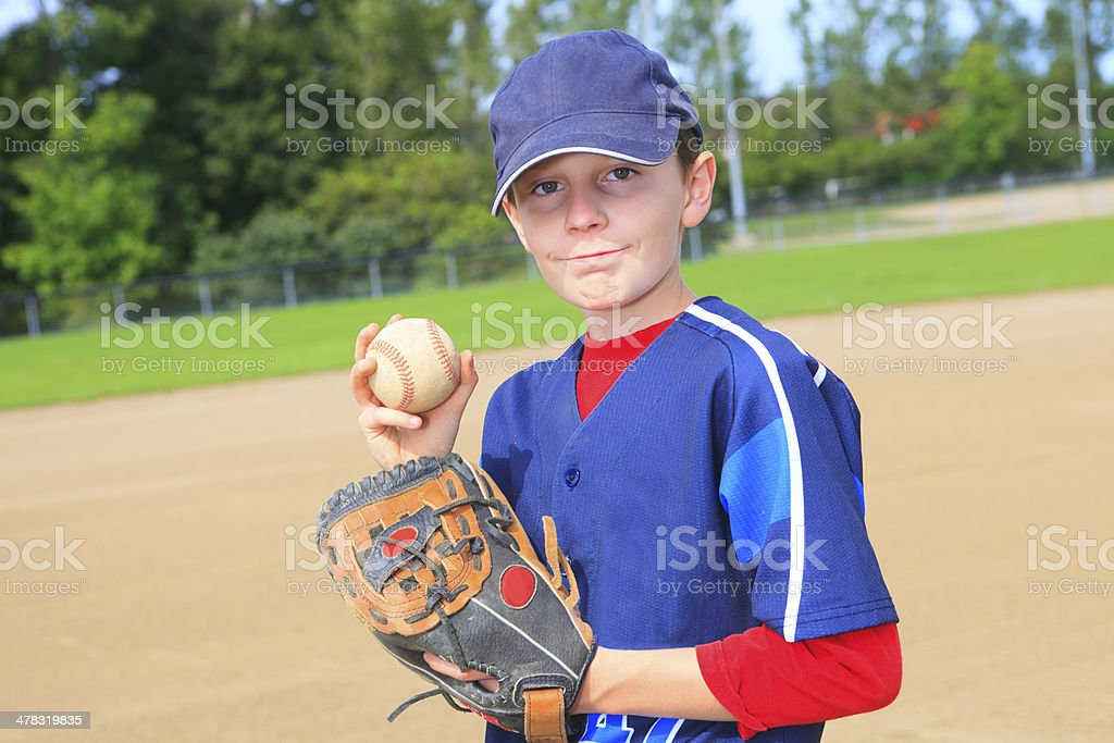 Baseball - Boy Pitch royalty-free stock photo