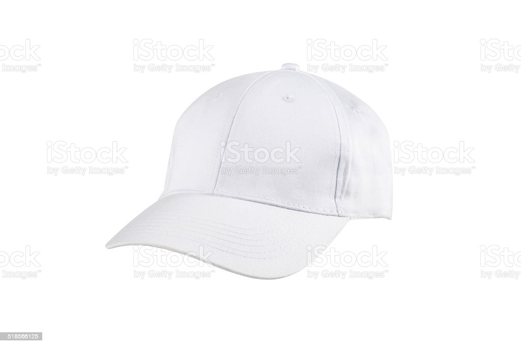 baseball cap isolated on white stock photo
