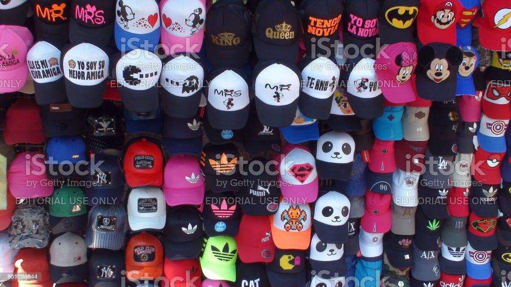 39c940d6 Baseball Cap On Display At Chapultepec Park Market In Mexico City Mexico -  Stock image .