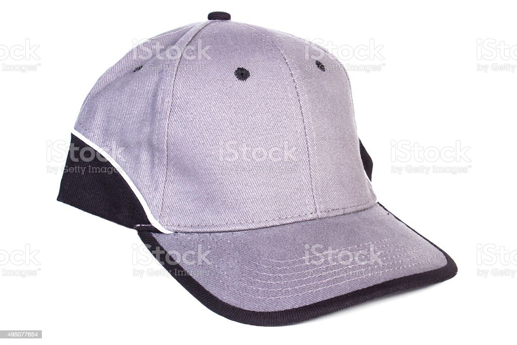 Baseball cap on white background, protection from sun stock photo