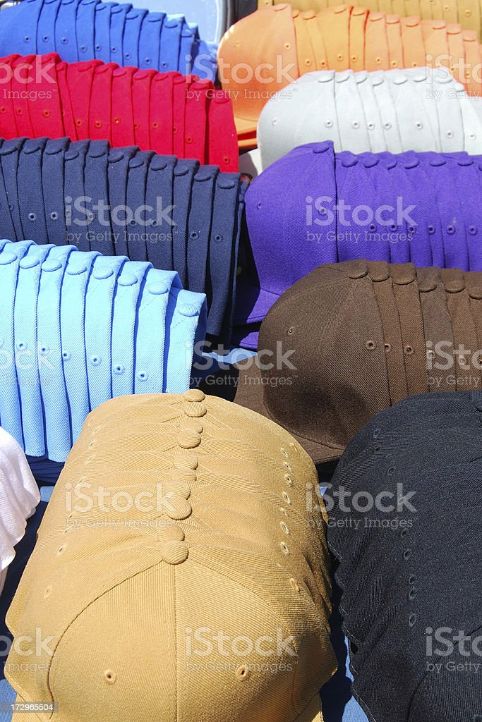Baseball Caps For Sale royalty-free stock photo
