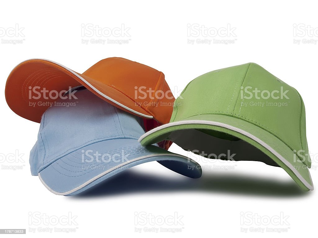 Baseball caps royalty-free stock photo