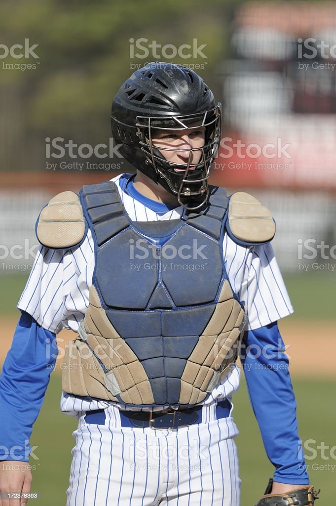 Baseball catcher stock photo