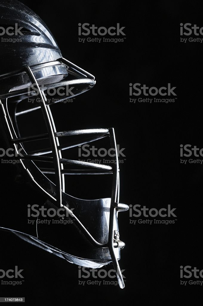 Baseball catchers mask profile stock photo