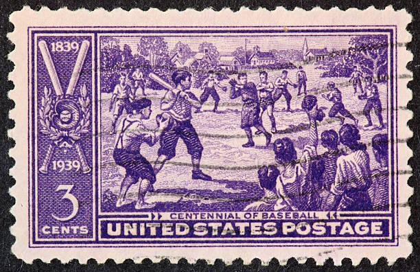 baseball centennial Timbre 1939 - Photo