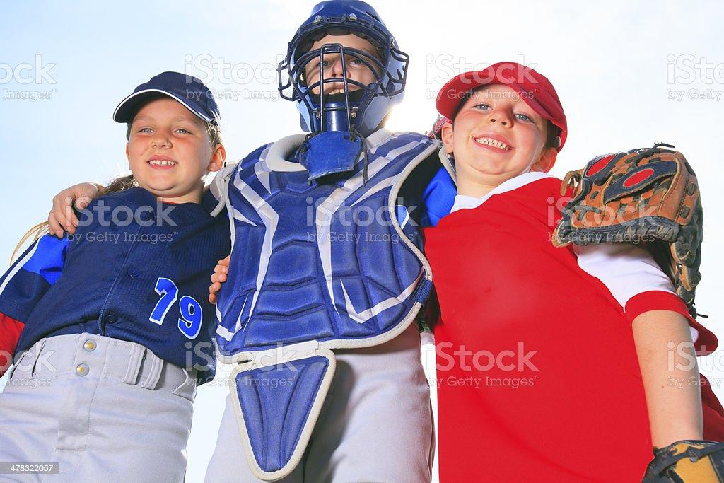 Baseball - Child Team stock photo
