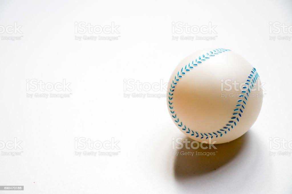 Baseball child toy placed on white background stock photo