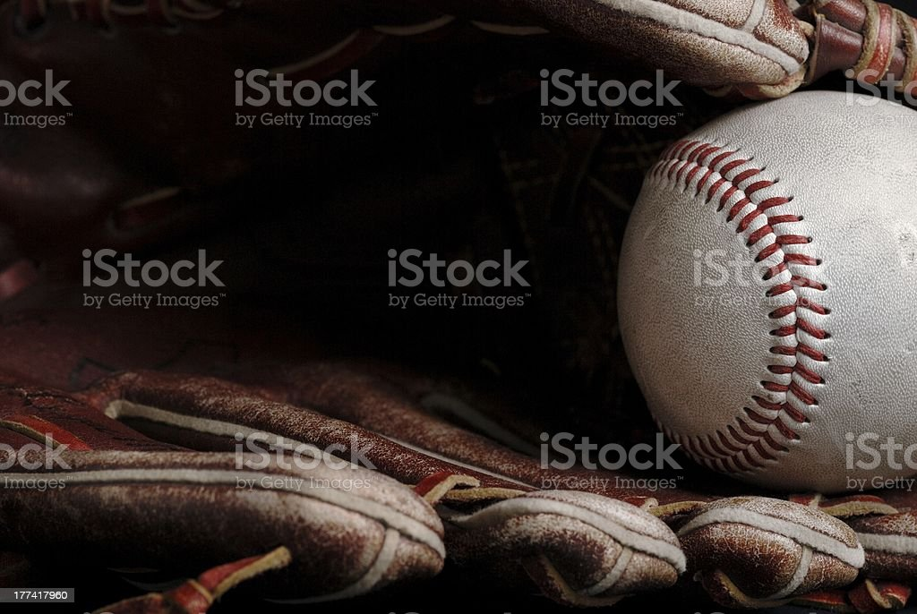 Baseball close up stock photo