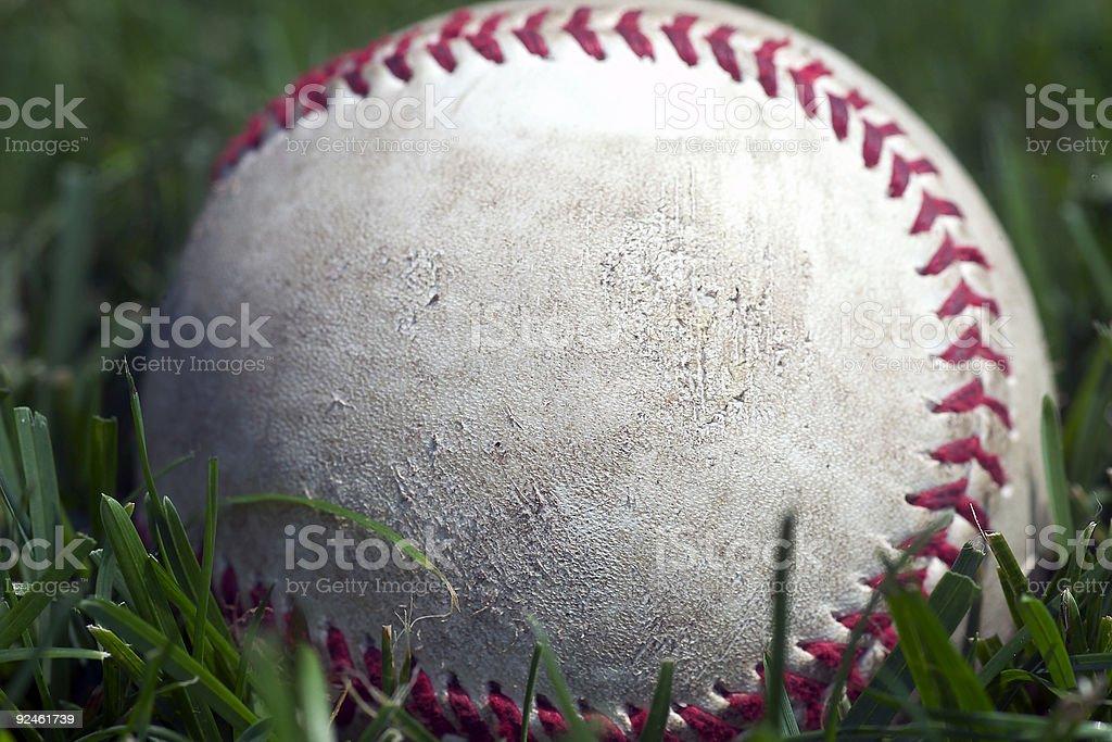 Baseball close-up royalty-free stock photo