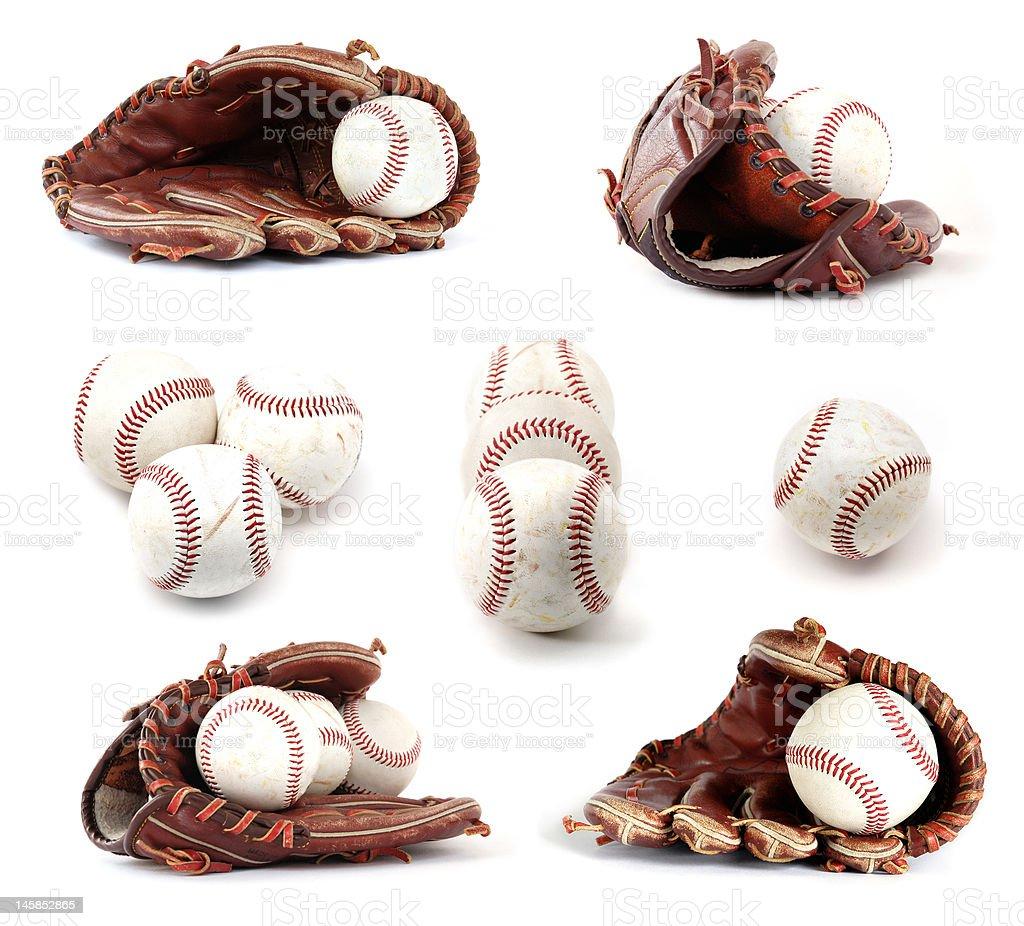 Baseball collection stock photo
