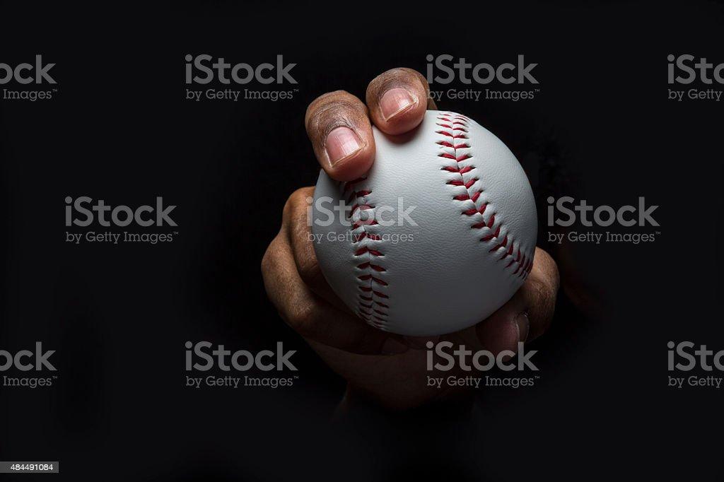 Baseball Curveball Grip stock photo