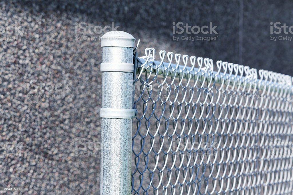 Baseball Diamond Chainlink Fence Boundary stock photo