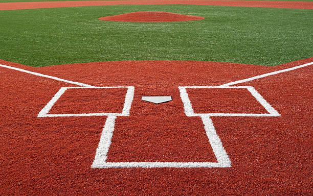 Baseball Diamond Brand new baseball diamond. baseball diamond stock pictures, royalty-free photos & images