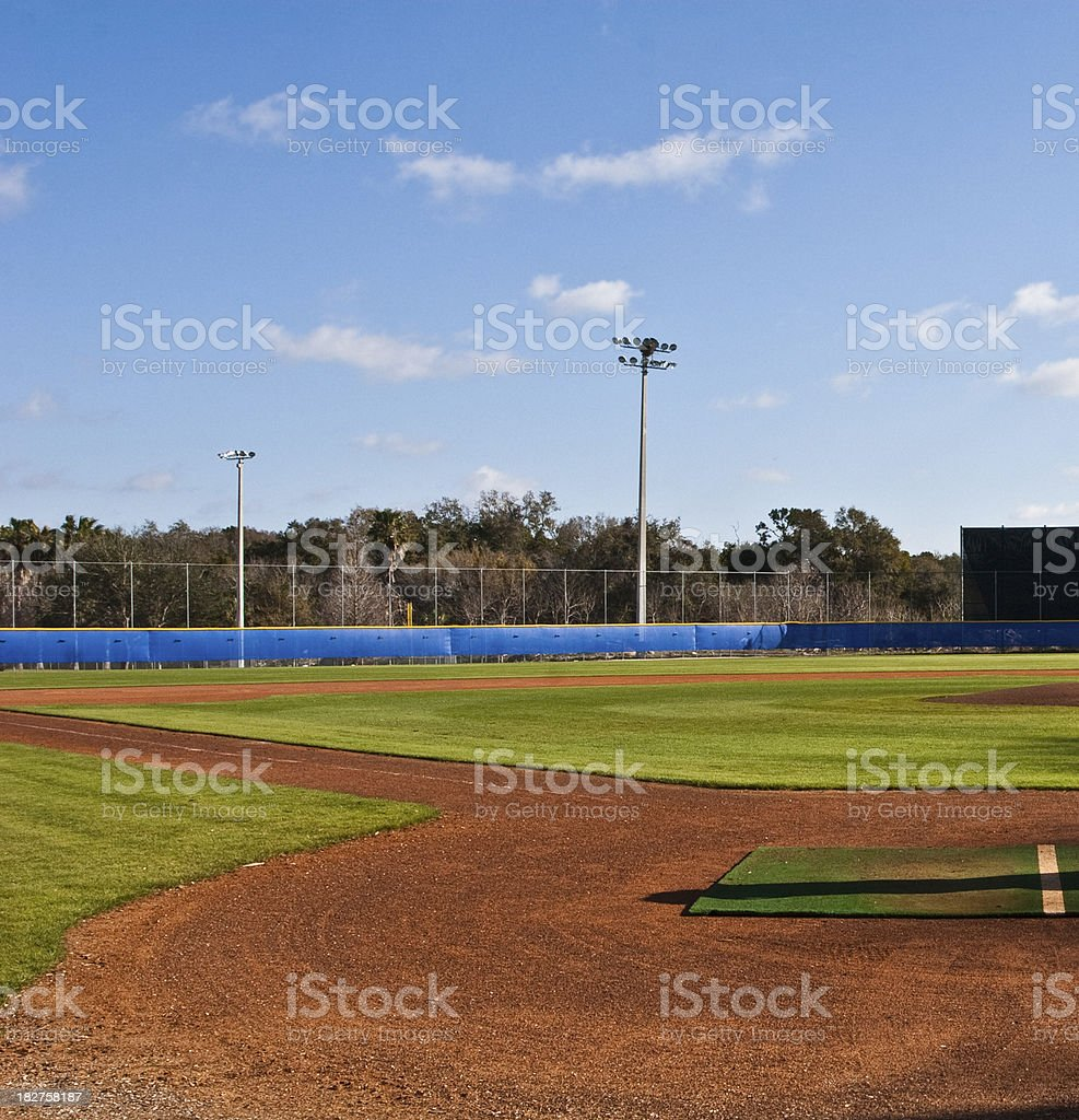 Baseball Diamond royalty-free stock photo
